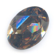 Cabochon Swarovski 4120 ovale mm. 18x13 Light Smoked Topaz