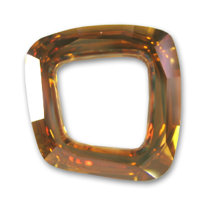 Cosmic Square Ring Swarovski 4437 mm. 20 Crystal Copper CAL x1