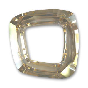 Cosmic Square Ring Swarovski 4437 mm. 20 Crystal Golden Shadow CAL x1