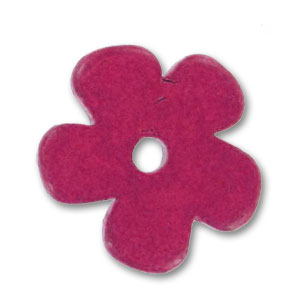 Fiore in ceramica mm. 25 Dark Fuchsia mat