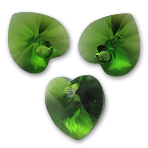 Cuore Swarovski 6228 mm. 14,4x14 Fern Green x1