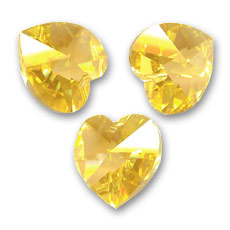 Cuore Swarovski 6228 mm. 14,4x14 Sunflower x1