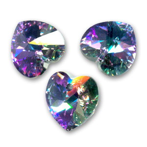 Cuore Swarovski 6228 mm. 18x17.5 Crystal Vitrail Light x1
