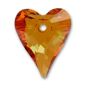 Cuore Swarovski Wild 6240 mm. 37 mm Crystal Copper x1
