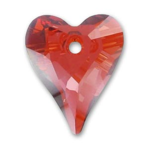 Cuore Swarovski Wild 6240 mm. 17 Crystal Red Magma x1