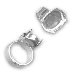 il più grande sconto nuovo autentico grande vendita Base anello castone 4120 mm. 18x13 Argento 925 x1 - Perles & Co