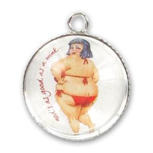Ciondolo lente mm 25 pin up costume da bagno x1 perles co - Costume da bagno in spagnolo ...