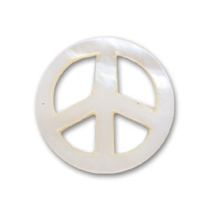 Pendente peace Madreperla mm. 18 Naturale Iris x1