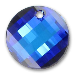 Pendente Twist Swarovski 6621 mm. 28 Crystal Bermuda Blue x1
