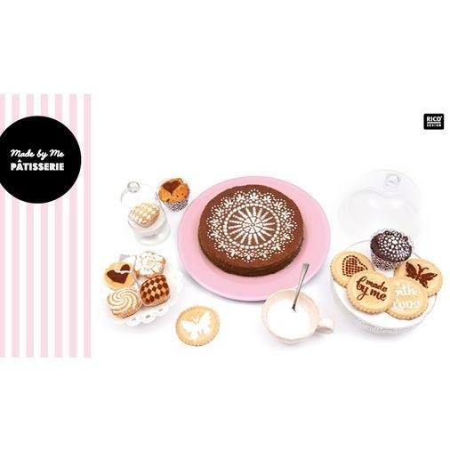 Stencil da cucina per dolci e cupcakes 12 e 24 cm fiori x5 for Stencil da stampare per cucina