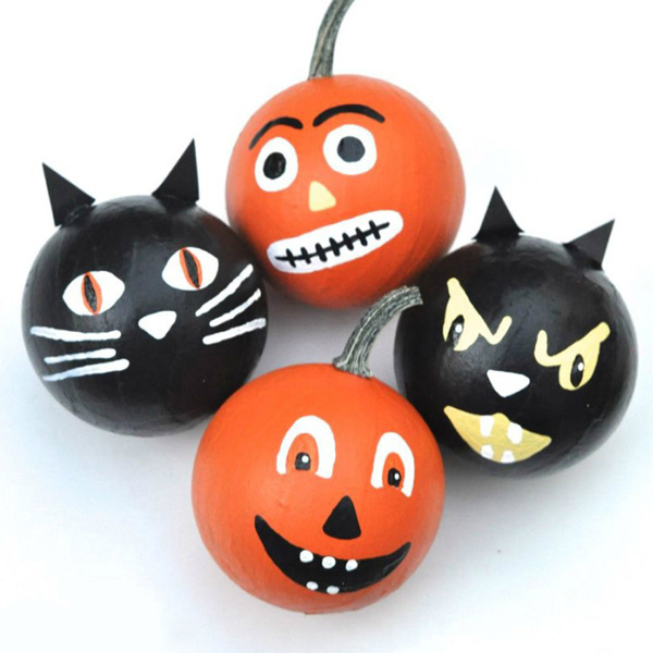 Zucca Halloween Gatto.Halloween Gatto Nero E Zucca Decorazione Palle Perles Co