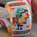 Tropical manchette - bead weaving with loom