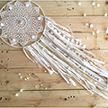 Dreamcatcher Dream Catcher pizzo facile uncinetto centrino fai da te e jersey frangia