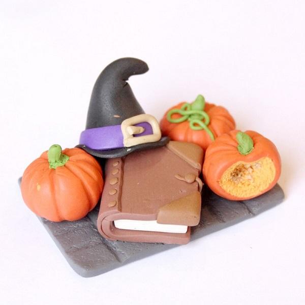 Tutorial Halloween con la pasta FIMO zucca 28dcd042c7a2