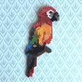 Brickstitch and Peyote Parrot