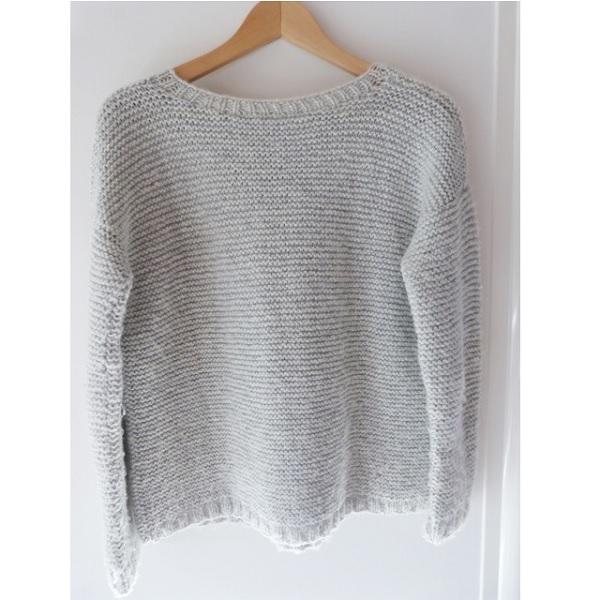 nuovo stile b98df 3a12f lavoro a maglia fai da te - maglione punto legaccio - Perles ...
