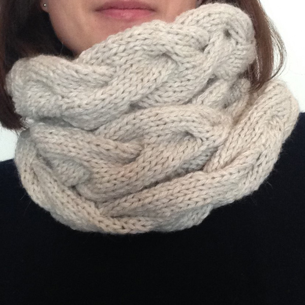 Knit un lana ritorta Snood Rico Essentials