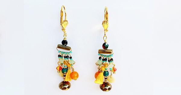 nuova alta qualità 100% autentico vendita di liquidazione Orecchini pendenti fai-da-te con nappine, perle e ciondoli Miyuki ...
