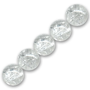 Cracked Beads mm.  6 Crystal x25