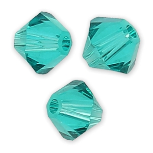 Biconi Swarovski mm. 4 Blue Zircon  x50