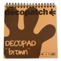 Blocco Decopad di Decopatch 15x15 cm - Marrone scuro x48