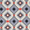 Tessuto David Textiles - Tribal Stripe - Grey/Turquoise x10cm