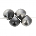 Perle in vetro Mushroom beads  6 mm Jet Chrome x50