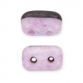 Rulla Duet Beads 3x5 mm Bicolore Black/Opaque Light Rose Ceramic L x10g