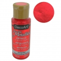 Pittura acrilica decorativa DecoArt Dazzling Metallics - Festive Red x59 ml