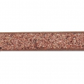 Nastro fantasia similcuoio 5 mm Copper Brown Glitter x1.2m