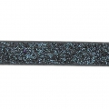 Nastro fantasia similcuoio 5 mm Blue/Black Glitter x1.2m