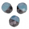 Sfaccettate Duet 8mm Bicolore Black/Opaque Blue Luster x20
