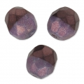 Sfaccettate Duet 8mm Bicolore Black/Opaque Amethyst Luster x20