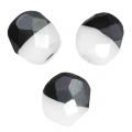 Sfaccettate Duet 8mm Bicolore Black/Opaque White x20