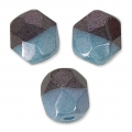 Sfaccettate Duet 4mm Bicolore Black/Opaque Blue Luster x40