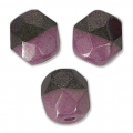 Sfaccettate Duet 4mm  Bicolore Black/Opaque Amethyst Luster x40