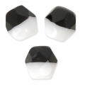 Sfaccettate Duet 4mm Bicolore Black/Opaque White x40