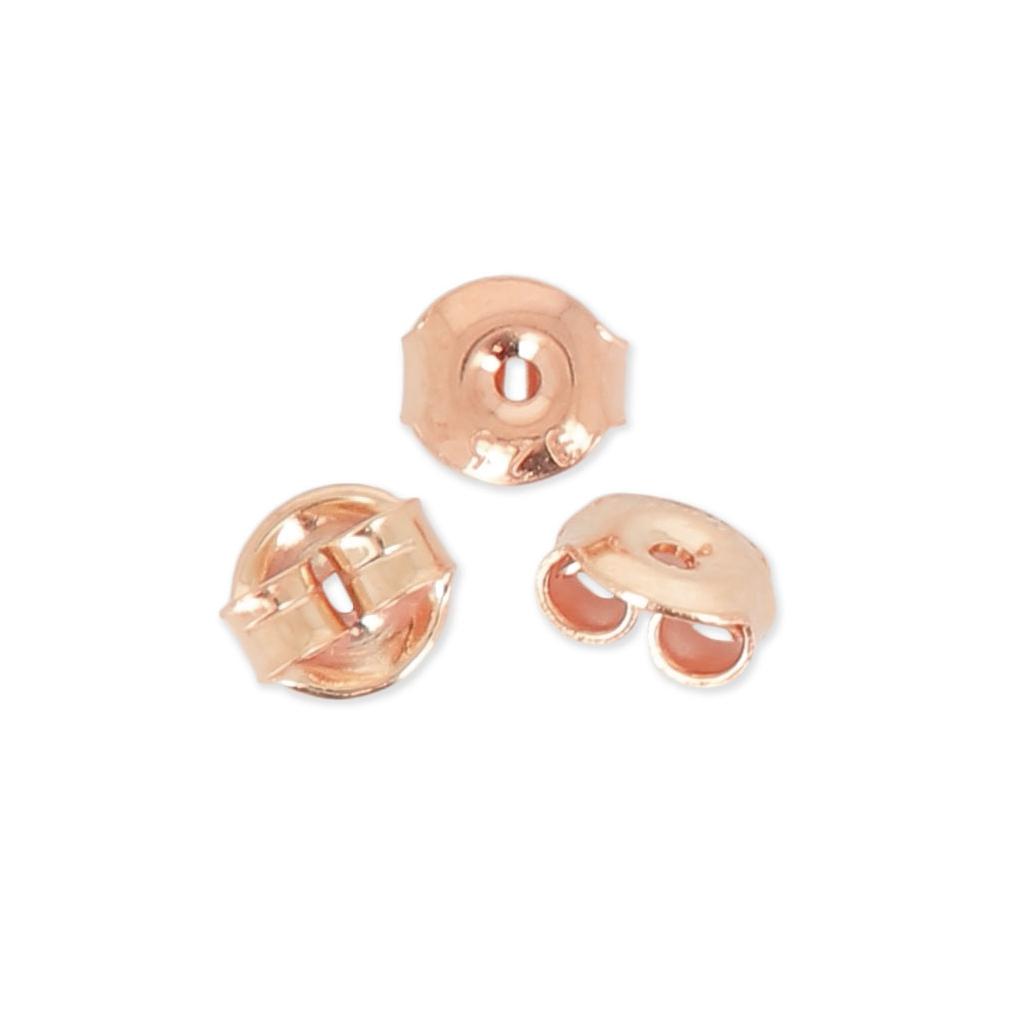 gamma completa di articoli comprare nuovo più colori Farfalline per orecchini 5x5.5 mm in Argentoo 925 oro rosa x6