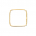 Base di montaggio quadrata mm. 14 Gold filled 14K x1