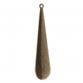 Pendente in metallo diamantata 53x11 mm bronzo x1