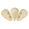 Perle in vetro Amos® par Puca® 5x8mm Opaque Beige Ceramic Look x10g