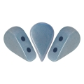 Perle in vetro Amos® par Puca® 5x8mm Opaque Blue Ceramic Look x10g