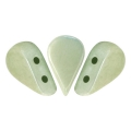 Perle in vetro Amos® par Puca® 5x8mm Opaque Light Green Ceramic Look x10g