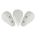 Perle in vetro Amos® par Puca® 5x8mm Opaque White Ceramic Look x10g
