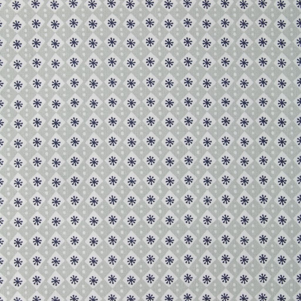 tessuto di cotone cosy fabrics losanghe e fiori grigio