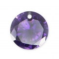 Pendente in zirconia  8 mm Amethyst x1