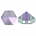 Hexagon Spike Bead Swarovski 5060 doppio foro7.5 mm Crystal Paradise Shine x1