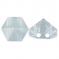 Hexagon Spike Bead Swarovski 5060 doppio foro7.5 mm Crystal Blue Shade x1