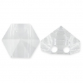 Hexagon Spike Bead Swarovski 5060 doppio foro7.5 mm Crystal  x1