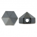 Hexagon Spike Bead Swarovski 5060 5.5 mm Jet Hematite x1